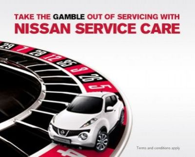 TAKE THE GAMBLE OUT OF SERVICING WITH NISSAN SERVICE CARE
