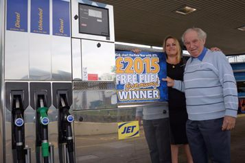 Halesworth resident wins £2015 of fuel in JET's nationwide competition