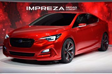 "Subaru ""Impreza Sedan Concept"" makes world debut at 2015 Los Angeles Auto Show"