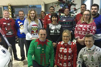 Hammond Nissan and Subaru raise £100 for ITV's Text Santa Christmas