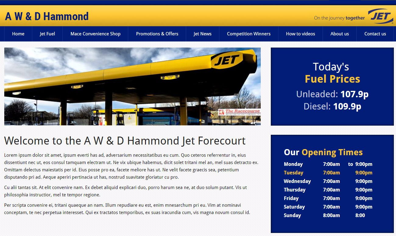 New Site launched for Jet Forecourt