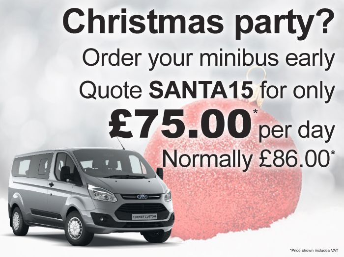 Christmas party? Order your minibus early