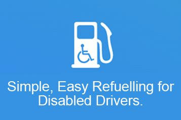 Simple, easy refuelling for disabled drivers now available at A W & D Hammond.