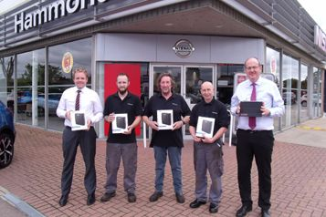 Hammond Nissan Halesworth Celebrate Multiple Successes