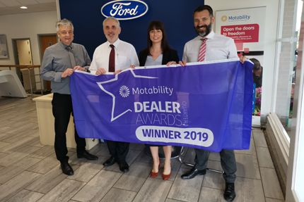 Hammond Ford Celebrates Motability Award For Excellent Customer Service